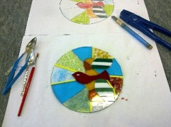 Class Participants Fused Glass