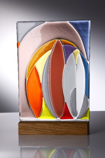 Fused Glass Panel by Monika Mihalyfi