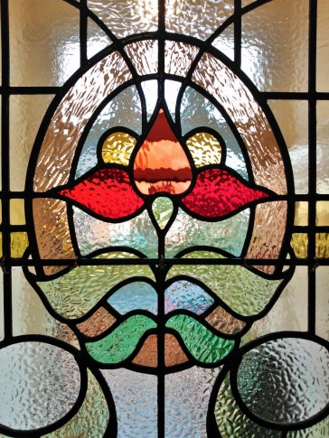 Edwardian Restoration - Stained Glass Door Panel