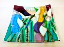 Students Fused Glass Platter
