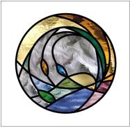 Transparent Glass Studio Stained Glass Window