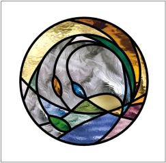 Transparent Glass Studio Stained Glass Window
