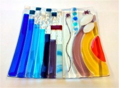 Fused Glass with Copper Inclusions