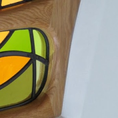 'Gaudi' Inspired - Contemporary Barn Conversion Window - Bespoke Stained Glass