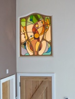 Contemporary Stained Glass Window Panel