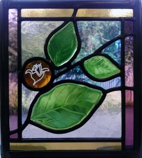 'Beech Tree' - Bespoke Stained Glass Window Panels