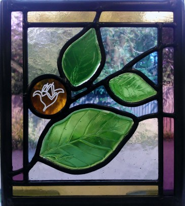 'Beech Tree' - Bespoke Stained Glass Window Panels