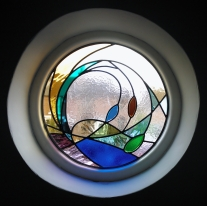 Web Copyright Paul Floyd Stained Glass 'Circle Window' 01