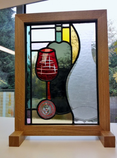 'Still Life' - Bespoke Corporate Stained Glass Commission