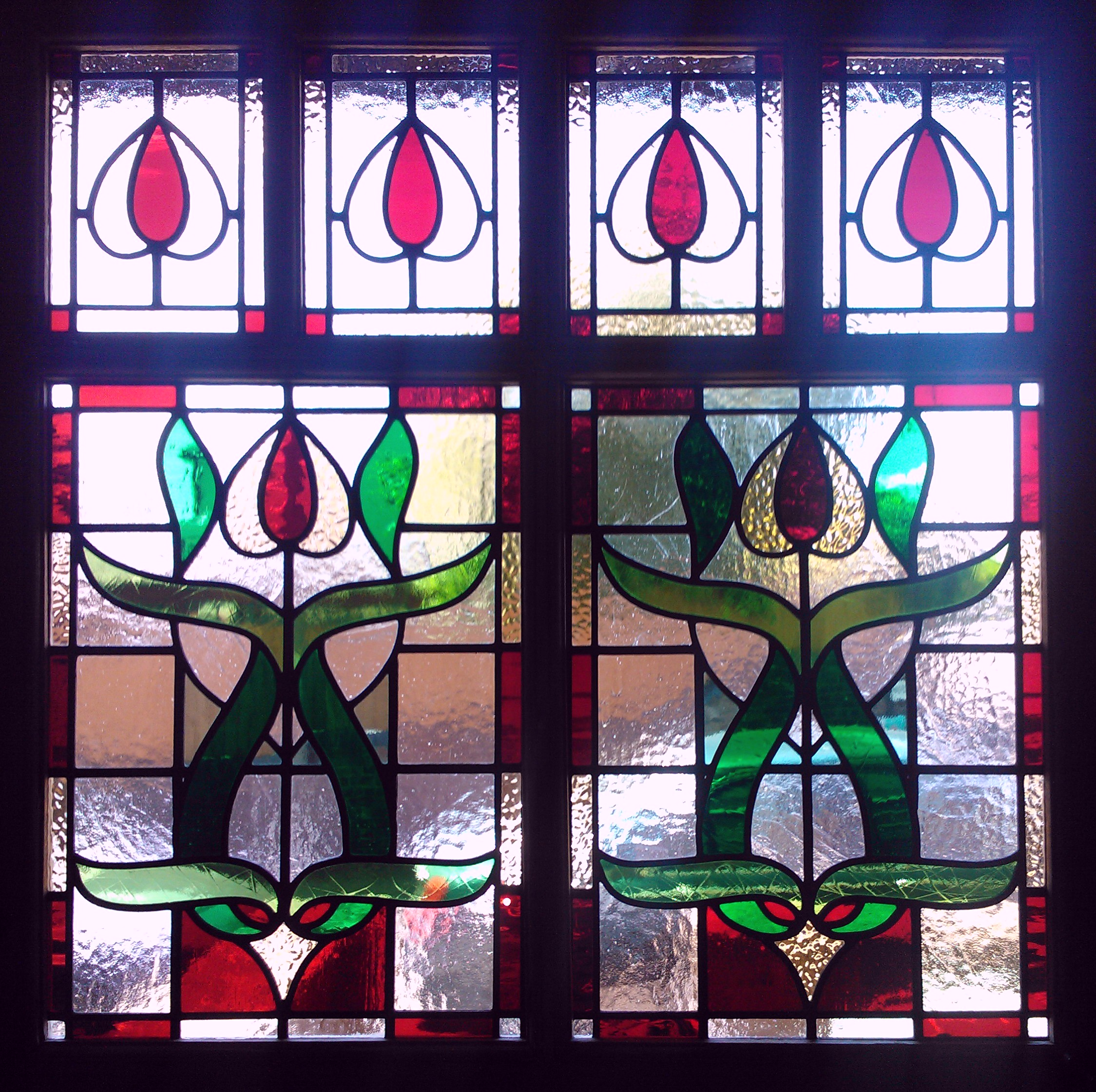 Period Victorian Pattern   Stained Glass Door Entrance