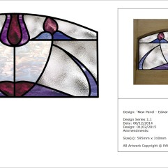 Edwardian Pattern/Modern Colours - Internal Stained Glass Door Panels