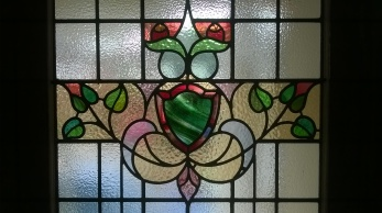 1930's Restoration & Repair - Traditional Stained Glass Door Panel