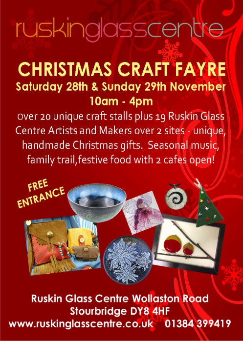 Ruskin Glass Centre Christmas Craft Fair 2015