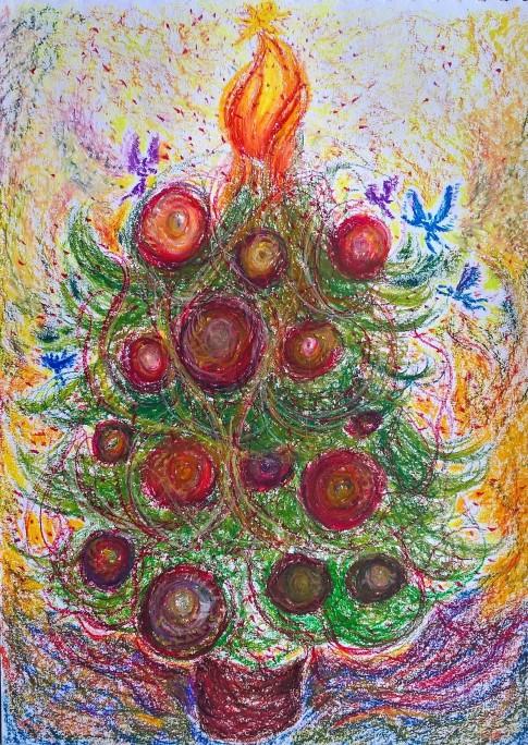 'Christmas Spirit' - By Monika & Flora - Copyright Transparent Glass Studio 2016