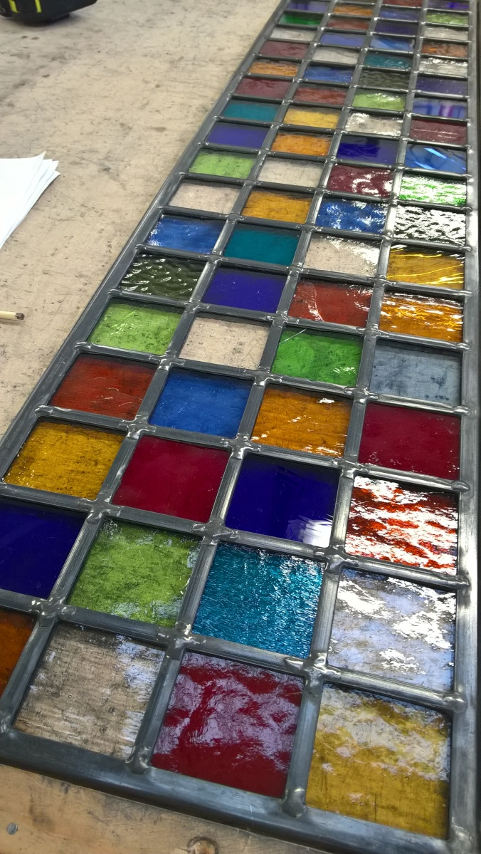 Abstract Stained Glass Transom Window Studio Journal