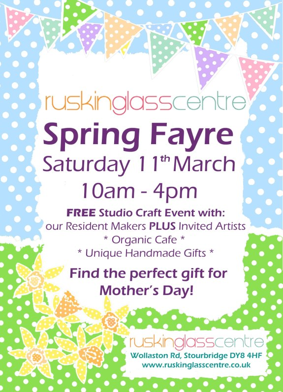 Transparent Glass Studio - Ruskin Glass Centre Spring Craft Fayre 2017