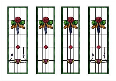 Traditional Stained Glass Door Panels & Side Lights - Double Glazed