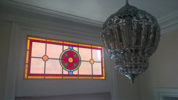 Victorian Stained Glass Toplight Window