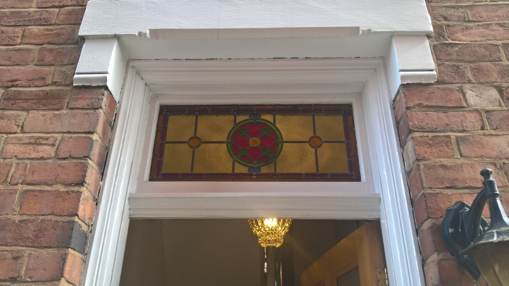 Transparent Glass Studio - Stained Glass Transom Window Pattern 03