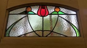 Edwardian Stained Glass Door Panel - Restoration