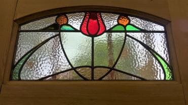 Edwardian Stained Glass Door Panel - Restoration