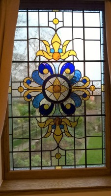 Transparent Glass Studio - Stained Glass Stairway Window