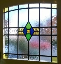 Web Copyright Transparent Glass Studio - Art Deco Stained Glass Restoration