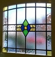 Web Copyright Transparent Glass Studio - Art Deco Stained Glass Restoration