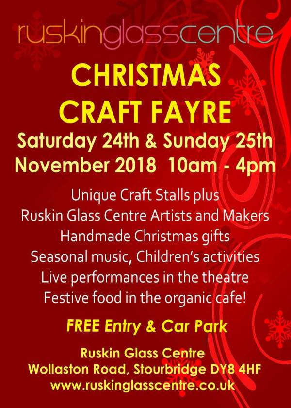 Ruskin Glass Centre 2018 Christmas Craft Fayre